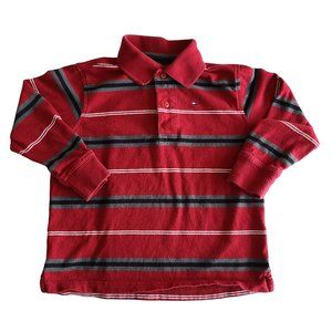 🍒3/$20🍒 TOMMY HILFIGER Red Striped Polo 3/3T